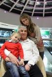 Portrait of grandfather and grandchildren Stock Image
