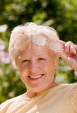 Portrait of the grandmother Royalty Free Stock Photography