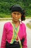 Portrait of a grandmother ethnicity Khang Royalty Free Stock Image