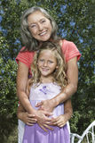 Portrait Of Grandmother And Girl Royalty Free Stock Images