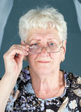 Portrait of grandmother in glassess Royalty Free Stock Images