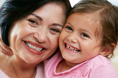 Portrait Of Grandmother With Granddaughter. Smiling Royalty Free Stock Photography