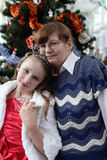 Portrait of grandmother and granddaughter Royalty Free Stock Photography