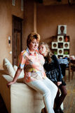 Portrait Of Grandmother With Granddaughter Royalty Free Stock Photo