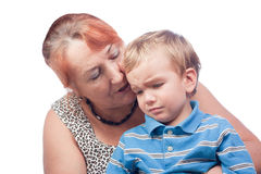 Portrait of grandmother and grandson Royalty Free Stock Photos