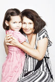 Portrait of a grandmother with her granddaughter Royalty Free Stock Photos