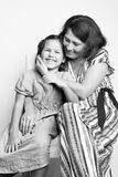 Portrait of a grandmother with her granddaughter Royalty Free Stock Photography