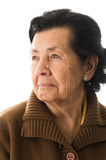 Portrait of grandmother looking nostalgic Stock Photography