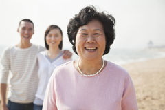 Portrait of Grandmother with Young Couple Royalty Free Stock Photography