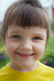 Portrait of a gray-eyed little girl Royalty Free Stock Photos