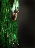 Portrait in green Royalty Free Stock Photos