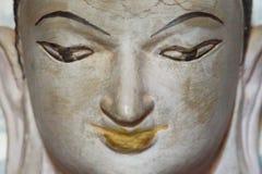 Portrait of Grey Buddha Face stock photo