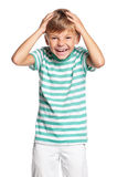 Portrait of grimacing boy Royalty Free Stock Photography