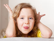 Portrait grimacing girl Royalty Free Stock Photos