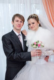 Portrait of the groom and the bride Stock Photography