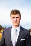 Portrait of Groom in Central Oregon Stock Photo