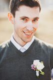 Portrait of groom Stock Images