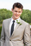 Portrait Of Groom At Wedding Royalty Free Stock Photo