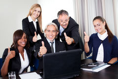 Portrait of a group of business people in a meeing Royalty Free Stock Photo