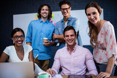 Portrait of a group of casual businessmen Royalty Free Stock Photo