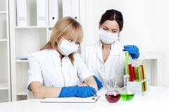 Portrait of group chemists Royalty Free Stock Images