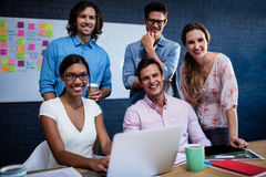Portrait of a group of colleagues Stock Image