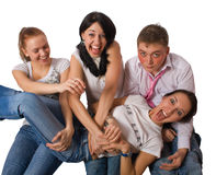 Portrait of group crazy people Royalty Free Stock Images