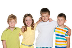 Portrait of a group of four smiling children Stock Photography