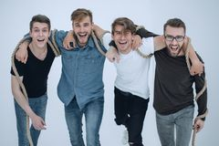 Portrait of a group of friends standing together. The concept of friendship Stock Photography