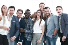 Portrait of a group of leading specialists of a successful company royalty free stock image