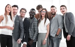 Portrait of a group of leading specialists of a successful company. The concept of successful work stock image