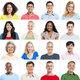 Portrait Group of Multiethnic People Smiling Stock Photos
