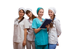 Portrait group of nurses Royalty Free Stock Photography