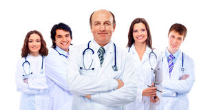 Portrait of group of smiling hospita Stock Photos