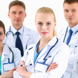 Portrait of group of smiling hospital colleagues standing together Stock Photography