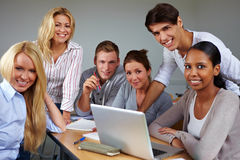 Portrait of group of students Stock Images