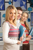 Portrait Of Group Of Teachers In Classroom royalty free stock photos
