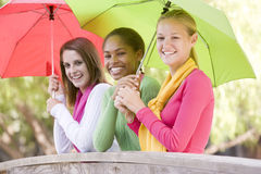 Portrait Of A Group Of Teenage Girls Stock Photography