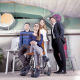 Portrait of a group of young businesspeople in a new office. Portrait of a group of young businesspeople to start up a new office activity stock image