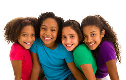 Portrait of a group of young girls Stock Images