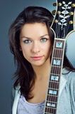 Portrait Guitar Girl Royalty Free Stock Image