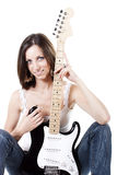 Portrait Guitar Girl Stock Photography