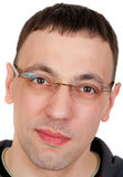 Portrait of a guy in glasses Royalty Free Stock Photos