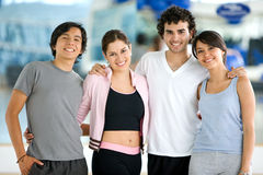 Portrait at the gym Stock Images