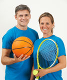 Portrait Of Gym Staff Against White Background Royalty Free Stock Photo