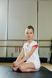 Portrait of gymnast girl Stock Photography