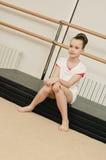 Portrait of gymnast girl Stock Photos