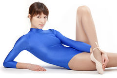 Portrait of gymnastic girl Royalty Free Stock Photography