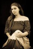 Portrait of a Gypsy. Vintage Sepia Portrait of a Gypsy royalty free stock photo
