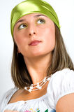 Portrait of gypsy girl. With scarf Royalty Free Stock Photo